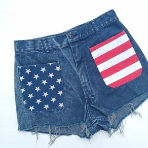 Vintage • Americano high rise cut-off jean shorts
